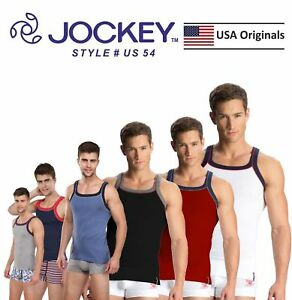c8a454d136ab1 Mens Jockey Sports Tank Tops Square Neck Vest Cotton Style US 54 ...