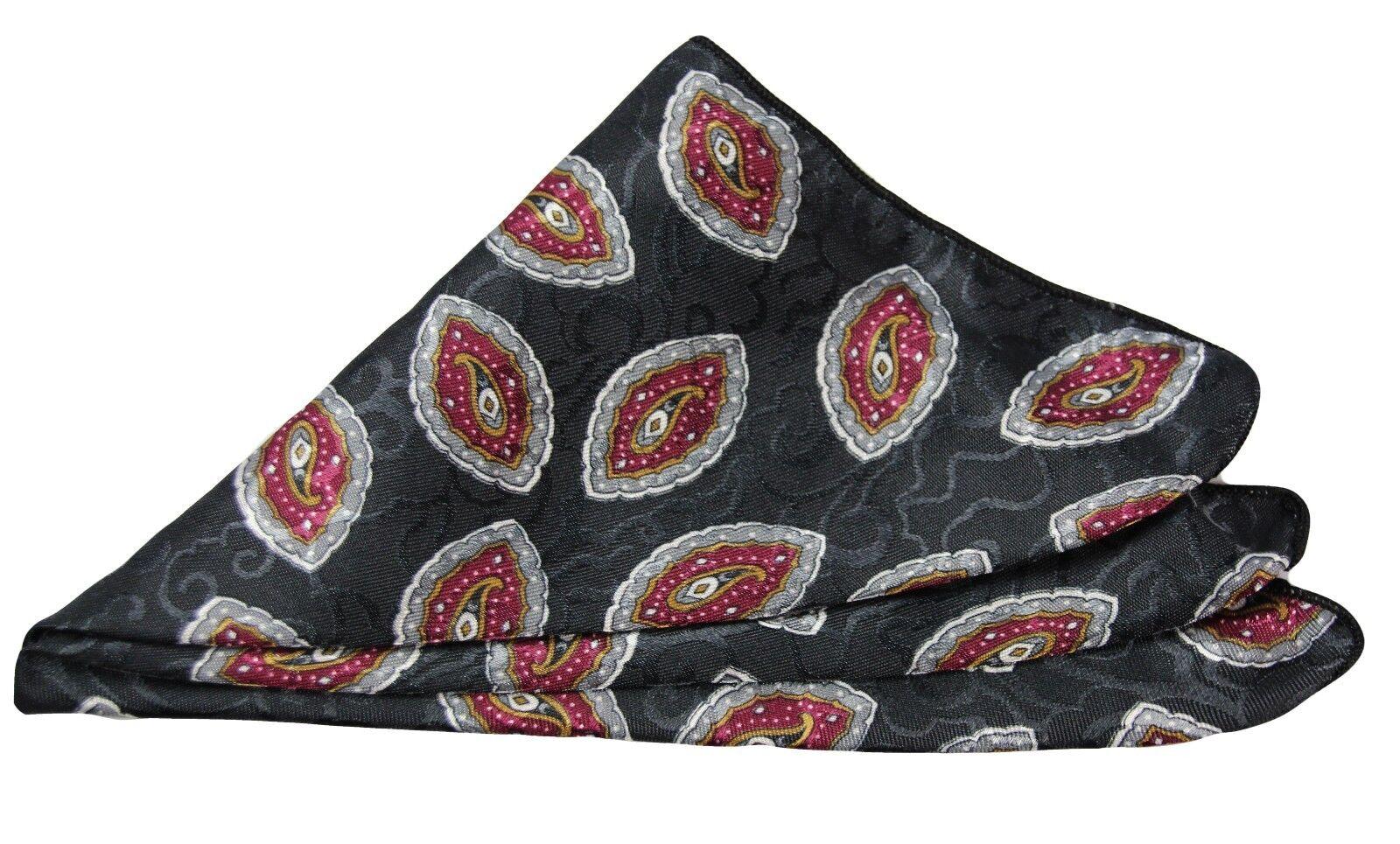 Paisley Pocket Square - Black