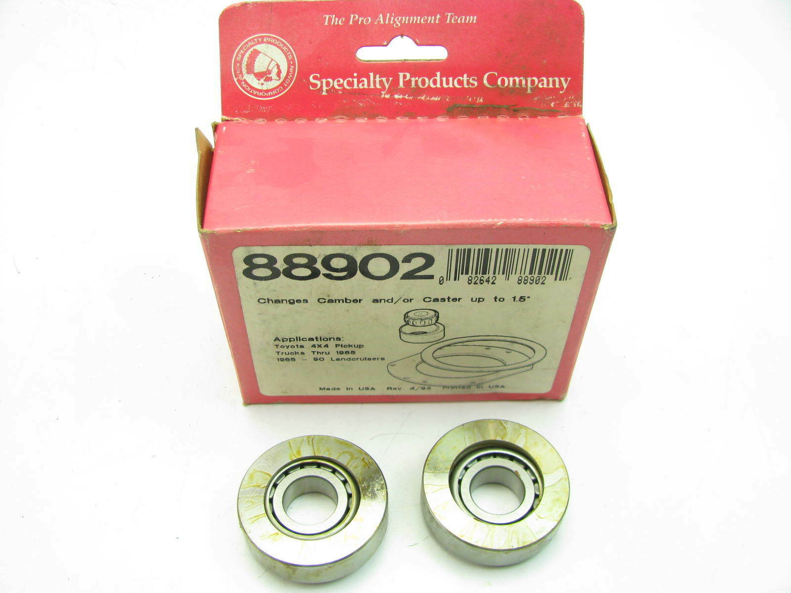Specialty Products 88902 Front Alignment Caster Camber Kit 1 1 2 Degree 4wd Ebay