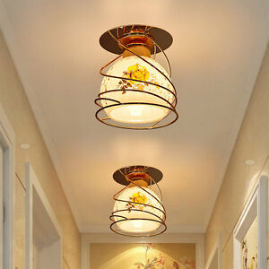 Metal glass cover corridor ceiling light home shop pendant lamp image is loading metal glass cover corridor ceiling light home shop aloadofball Choice Image