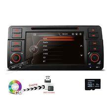 "7"" Multi-Touch Dash Car DVD GPS NAV SAT 1 DIN Radio Stereo for BMW 3 Series E46"