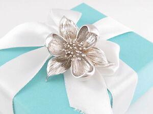 Tiffany-amp-Co-Argento-Orchidea-Spilla-Scatola-Incluso