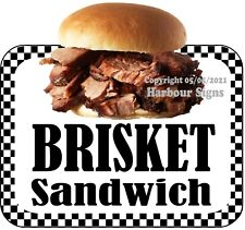 Brisket Sandwich Decal Choose Your Size Bbq Food Truck Concession Sticker