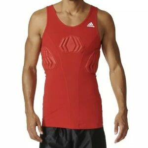 Details about *NEW* Adidas Sz S Basketball Men's Padded Tank Red Techfit Compression S05380