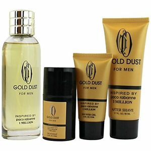 Inspired By Paco Rabanne 1 Million, Gold Dust 4 piece Men's ...