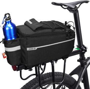 Insulated Trunk Cooler Bag Bicycle Rear Rack Bag Reflective Bike Pannier Bag New