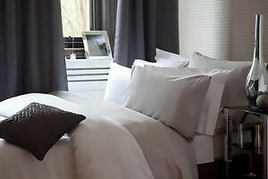 or Pillow Cases In Ivory All Sizes 500 Thread Cotton Rich Bed Linen Sheet