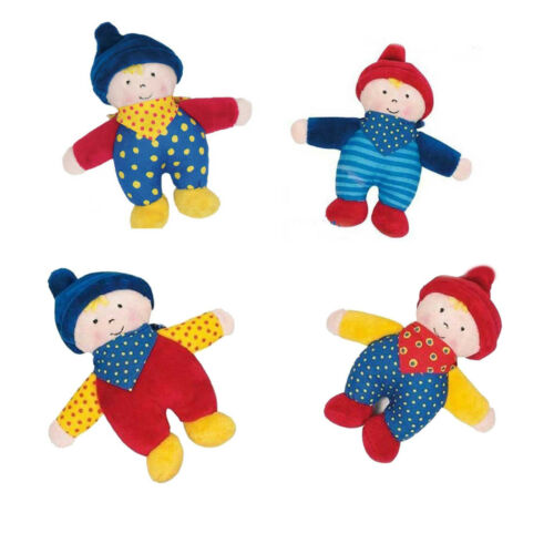 Baby Plüschfigur Sandmann GOKI 15 cm 4 fach sortiert Baby Spielzeug Knuddeln