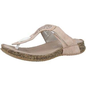 innovative design 31ac8 6b240 Details zu Rieker Morelia-Glitternet Schuhe Damen Zehensteg Sandalen  Sandaletten 61191-31