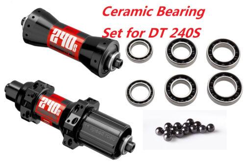 J/&L Ceramic Bearing kit for DT Swiss 240s Front/&Rear QR Road Hub StraightPull