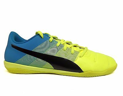 Puma Uomo evoPower 4.3 IT Indoor Soccer Scarpe da training GialloBlu 103540 01 a | eBay