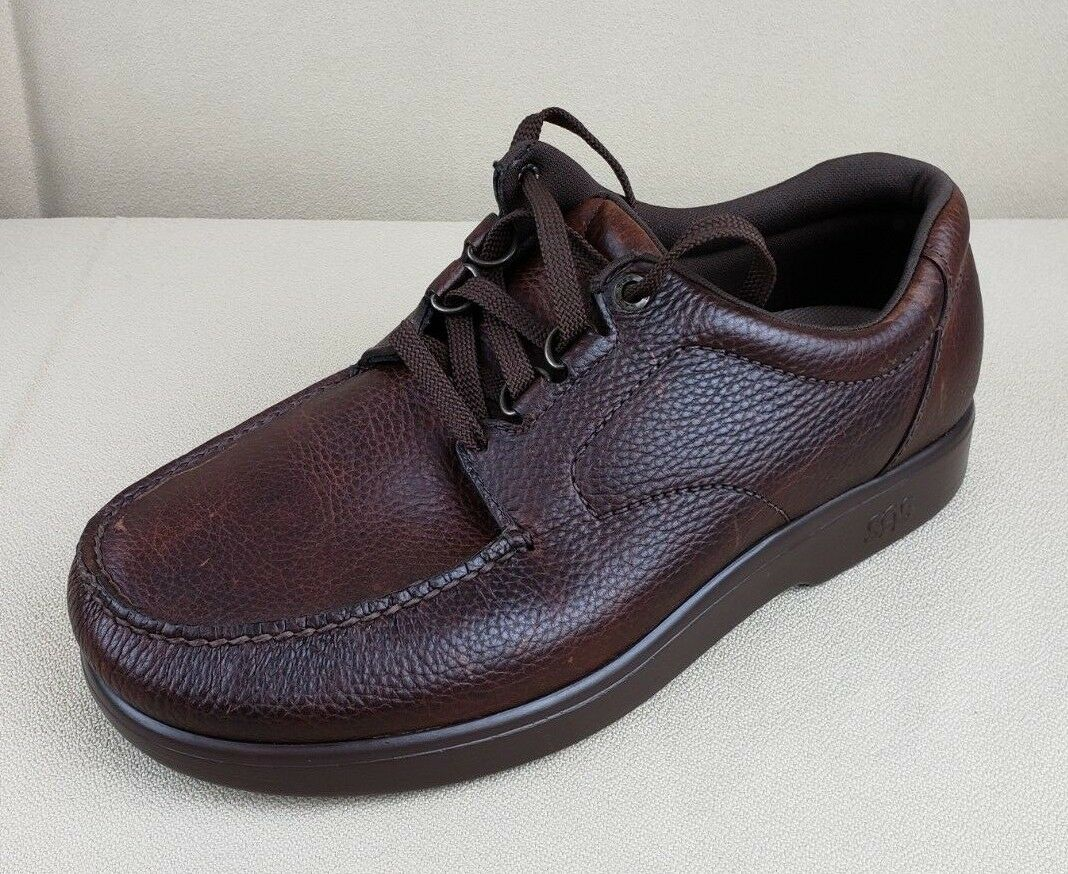 Men's SAS  Bout Time  Comfort scarpe - Marroneee - Diabetic, Support Walking 12 WW