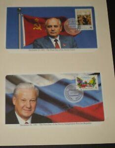 UNION OF SOVIET SOCIALIST REPUBLICS FINAL DAYS & INDEPENDENT REPUBLIC 2 COVERS