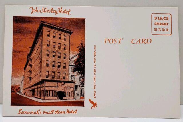 John Wesley Hotel Savannah's Small Clean Hotel Postcard A20