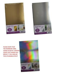 Approx 120 Sheets Hunkydory Rainbow DL Mirri Mats