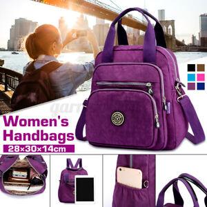 Multi-function Backpack Women Casual Purse Nylon Shoulder Rucksack Travel Bags