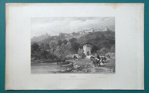 ITALY-Narni-1833-Antique-Print-Engraving
