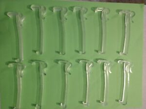 """All New! 3/"""" Single Slat VALANCE CLIPS for 2/"""" Faux WOOD MINI BLINDS ONE PAIR"""