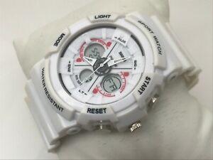 SKMEI-Men-Watch-Dual-Time-White-Sport-Multi-Function-Water-Resistant-5ATM