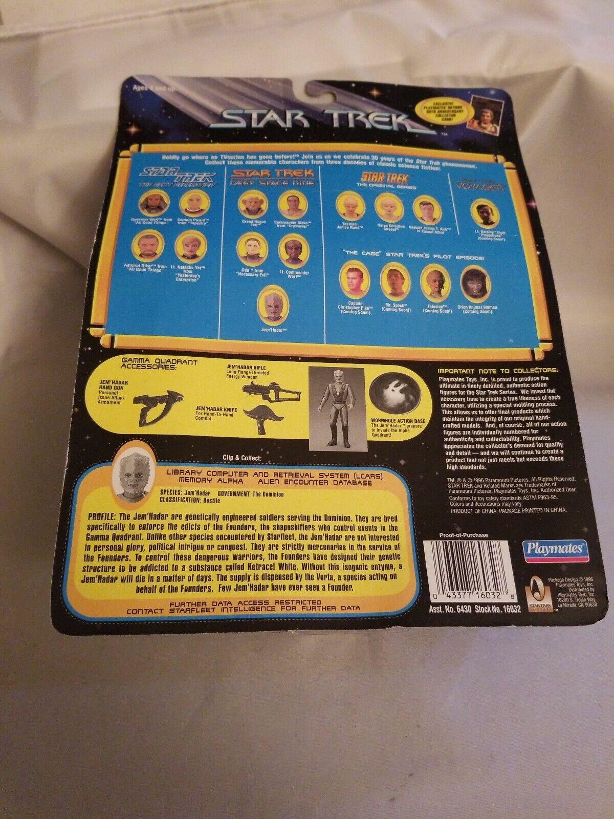 New 1996 Star Trek Jem Hadar Action Figure Card Purple Accessories Sealed
