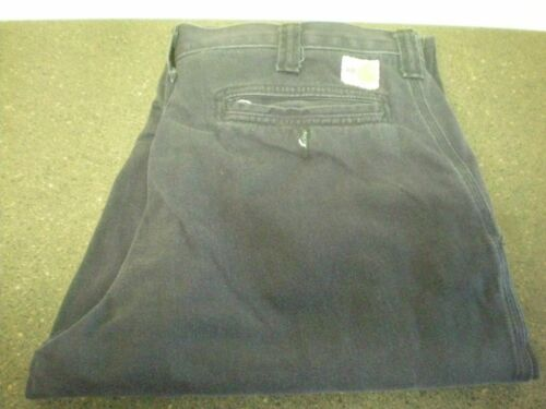 4 Carhartt FR Navy Blue Pants #10D.34 VG Condition Relaxed Fit 38X30 371-20