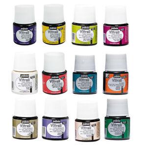 Pebeo-VITRAIL-vidrieras-Efecto-Pintura-45ml-Transparente-Colores-y-medios