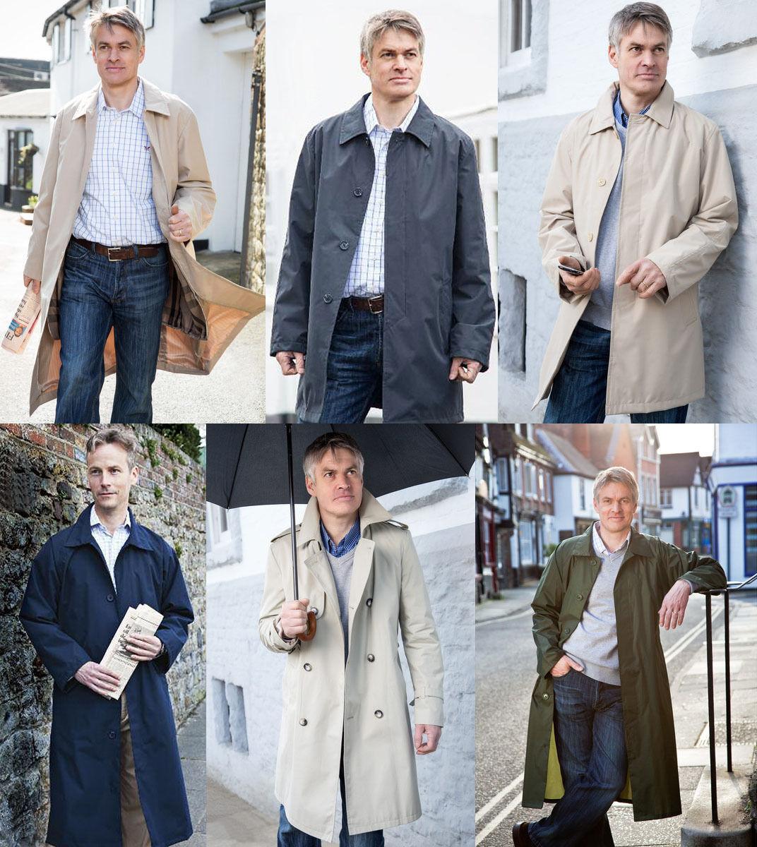 Men's Rainmac Waterproof Coats Full or ¾ Length Raincoats & Poncho Cape