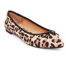 NEW Womens Merona Animal print ballet flat pointed toe dress shoes size 8