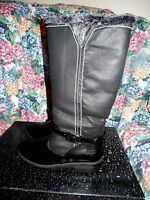Ladies Waterproof Boots By Totes,size 6m, Black,tall,zipperlinednew Shoes
