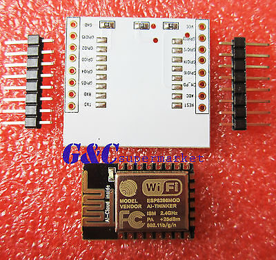 5pcs ESP-12E ESP8266 e Serial Port WIFI with IO Adapter Plate Expansion M95