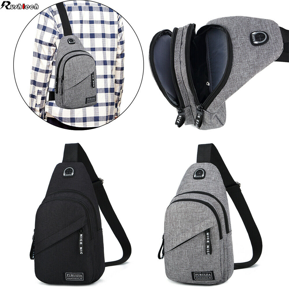 Guys Women Chest Sling Shoulder Bag Cross Body Fanny Pack Sports Travel... - s l1600