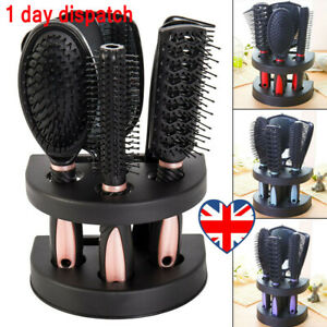 5x-Professional-Salon-Hairbrush-Womens-Ladies-Makeup-Hand-Hair-Brush-Comb-Set