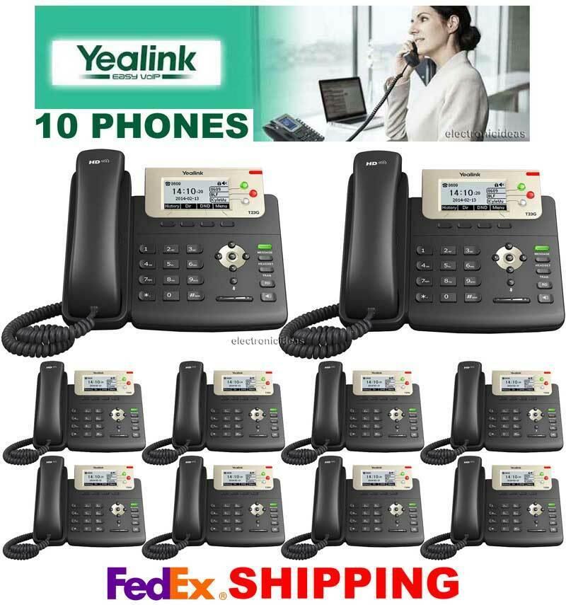 Details about YEALINK SIP-T23G IP 3-LINE GIGABIT SIP VoIP IP PoE - 10  TELEPHONES