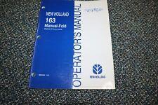 New Listingused New Holland 163 Manual Fold Tedder Rake Operator Manual Free Shipping