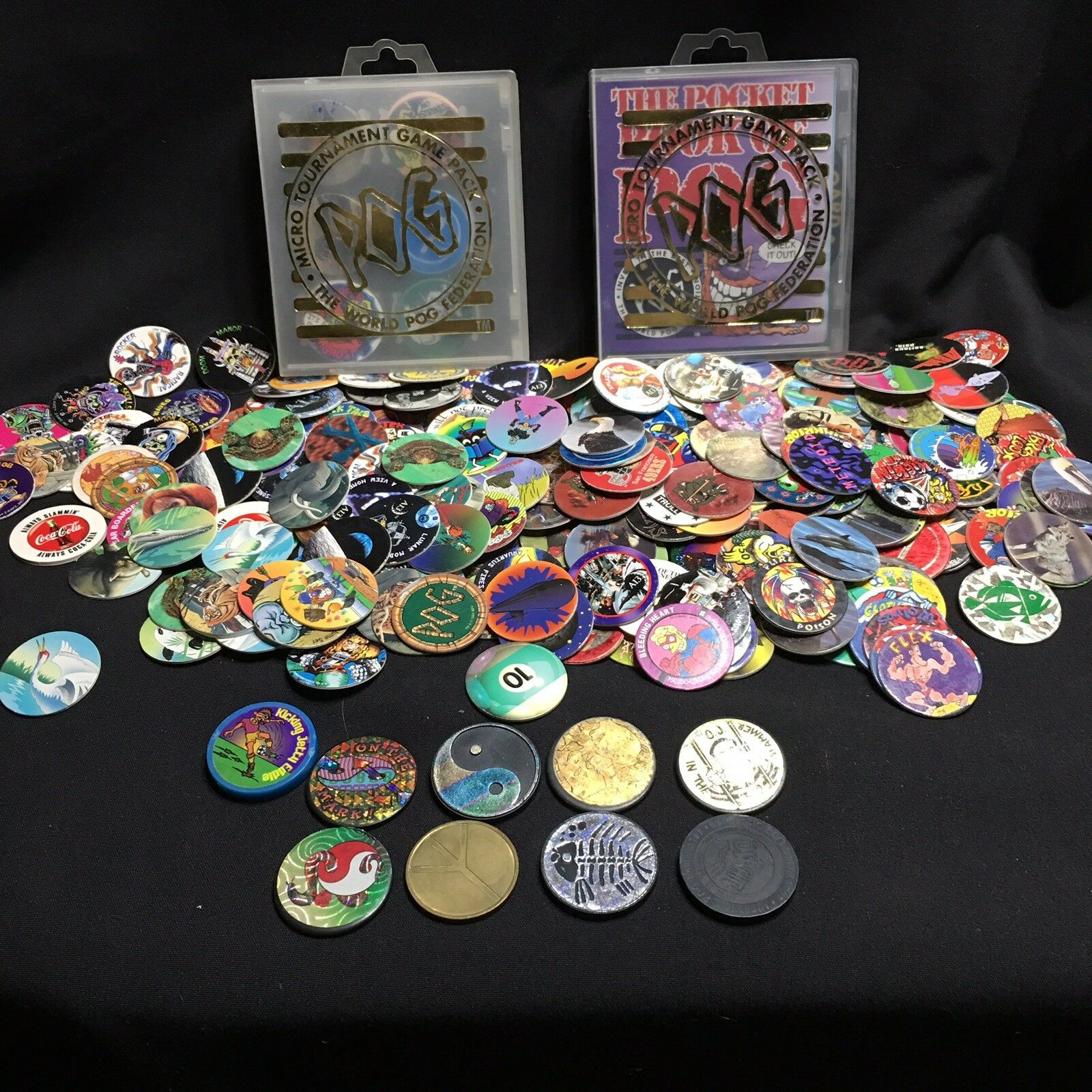 Pogs Slammers Micro Tournament Vintage Variety Of Over 450 Pogs Game