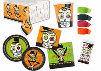 Halloween Muertos Sugar Skull Day Of The Dead Party Plates Napkins Tableware