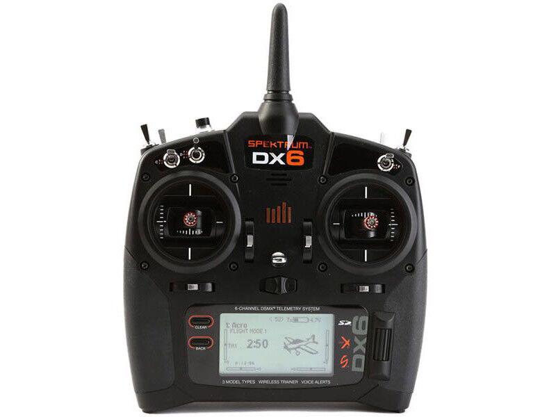 Spektrum DX6 G3 6-CH DSMX Transmitter w AR6600T RX (Mode 2) Set.