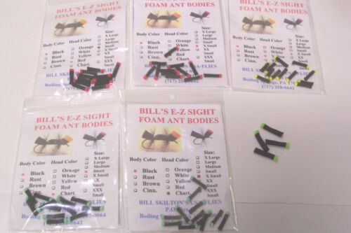 SKILTON/'S QUICK SIGHT FOAM ANT BODIES FLY TYING FOAM CYLINDERS E-Z Sight Fly