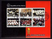 SAN MARINO 1999 Foglietto 100 Anni di Milan USATO