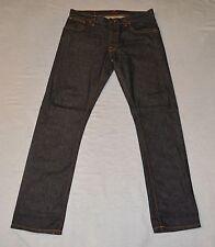 A8 Auth NUDIE NJ3594 Hank Rey Org Dry Deep Indigo Organic Cotton Jeans Size 34