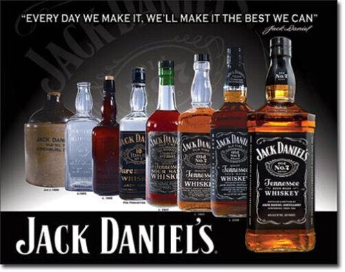 Jack Daniels Straight Bourbon Whiskey Bottles Alcohol Metal Sign