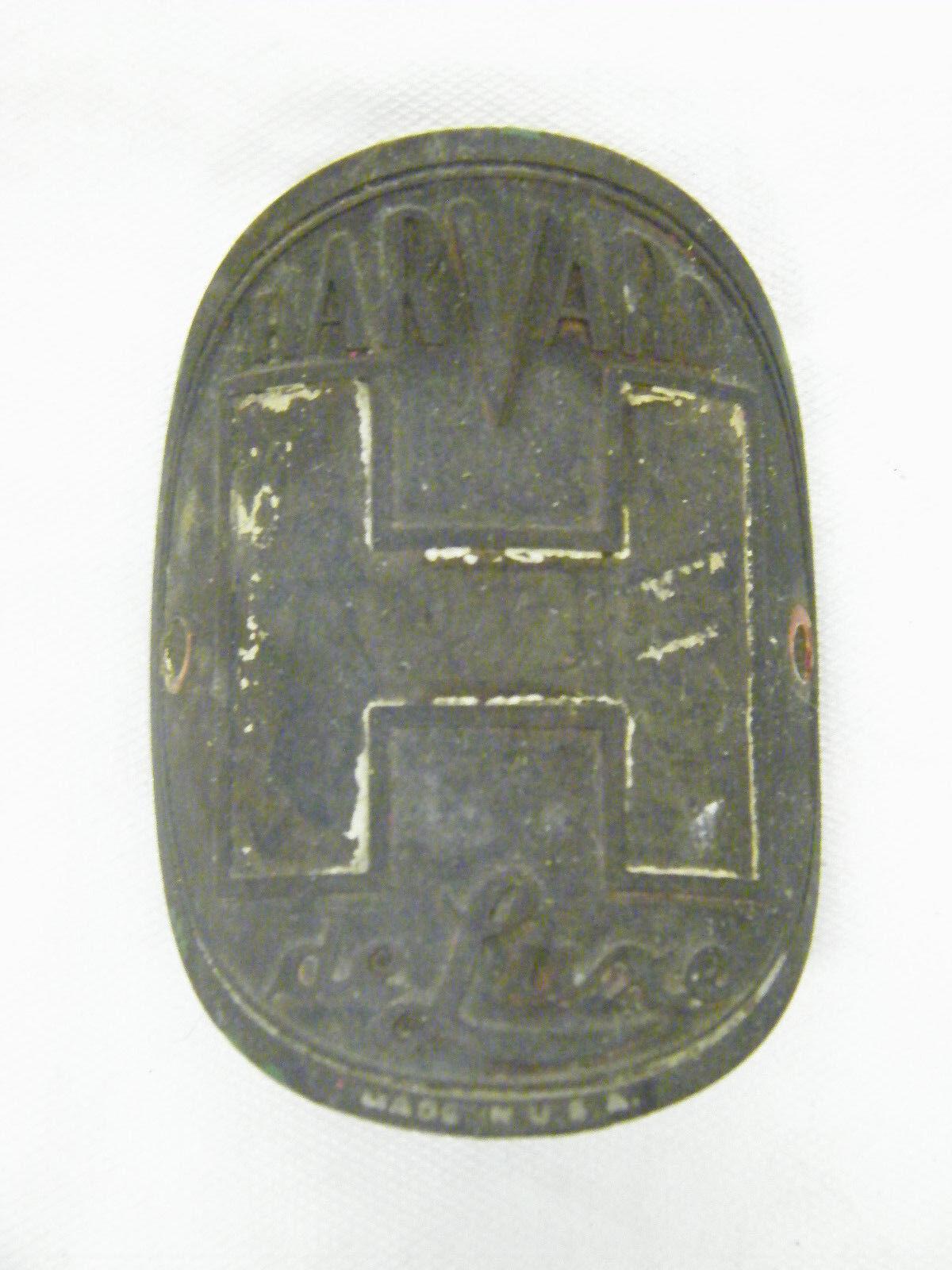 Vintage Harvard Deluxe USA Bicycle Head Badge