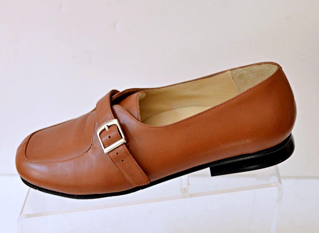 DREW Women's 7.5W Megan Loafer shoes Tan Brown