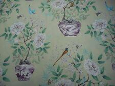 Zoffany Curtain Fabric 'Romey's Garden' 2 METRES (200cm) Old Gold 100% Linen