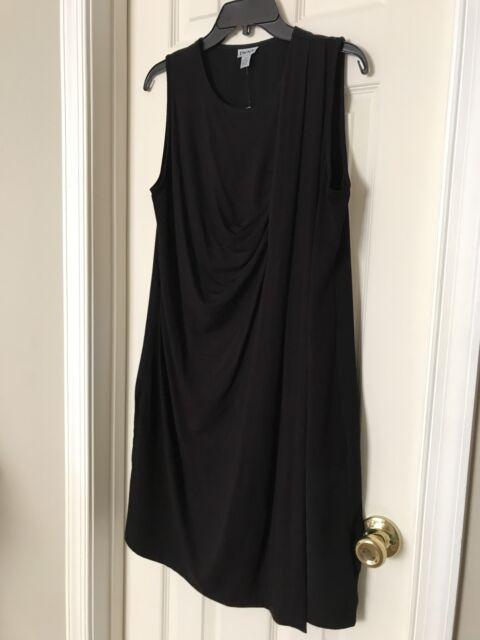 2e1057b62cf DKNY Womens Black Overlay Ruffle Casual Dress M Summer Cocktail Party  Dressy NWT