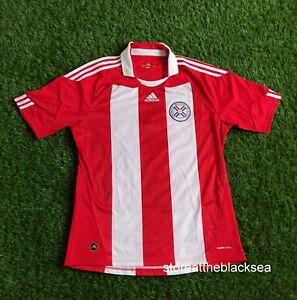 Paraguay NATIONAL TEAM 2010 2011 HOME FOOTBALL SOCCER SHIRT JERSEY ADIDAS MEN L