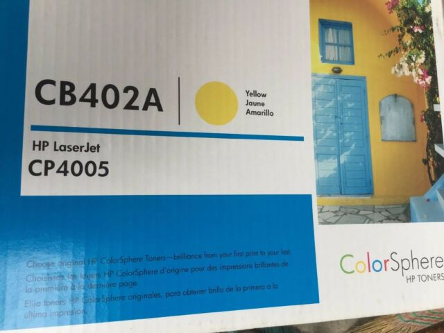 Genuine Hewlett Packard CB402A Yellow Toner Cartridge 642A for CP4005 Series HP