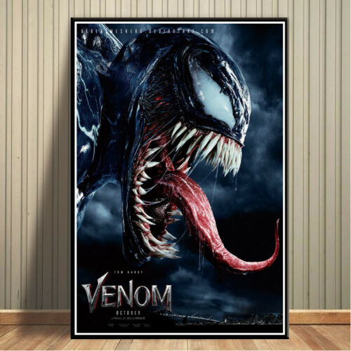Venom Movie Tom Hardy Marvel Poster Comics Hero Posters