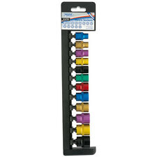 "Draper Expert® 12 Piece 3/8"" drive 6 Point Coloured Socket Set 8 - 19mm 85810"