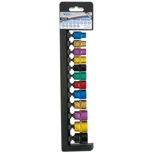 "Draper Expert® 12 Piece 3//8/"" drive 6 Point Coloured Socket Set 8-19mm 85810"
